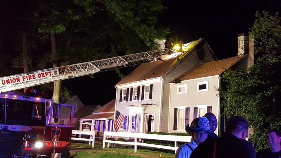 Tour 1 battles fire in attic in the oldest house in Union